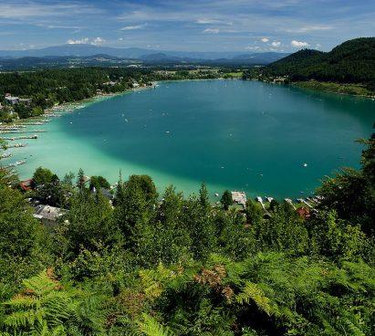 Klopeinersee in Oostenrijk